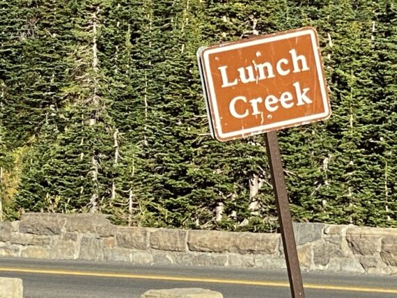 sign that says Lunch Creek