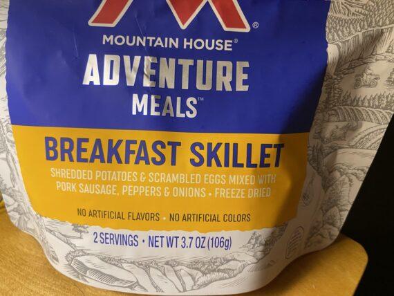 freeze dried meal bag