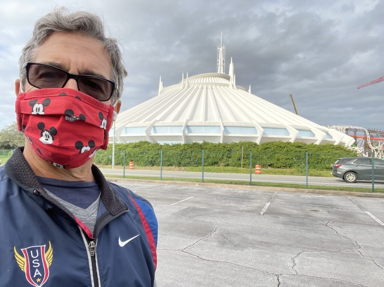 Jeff noel in front of Space Mountain