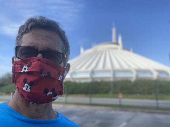 jeff noel with Space Mountain in background