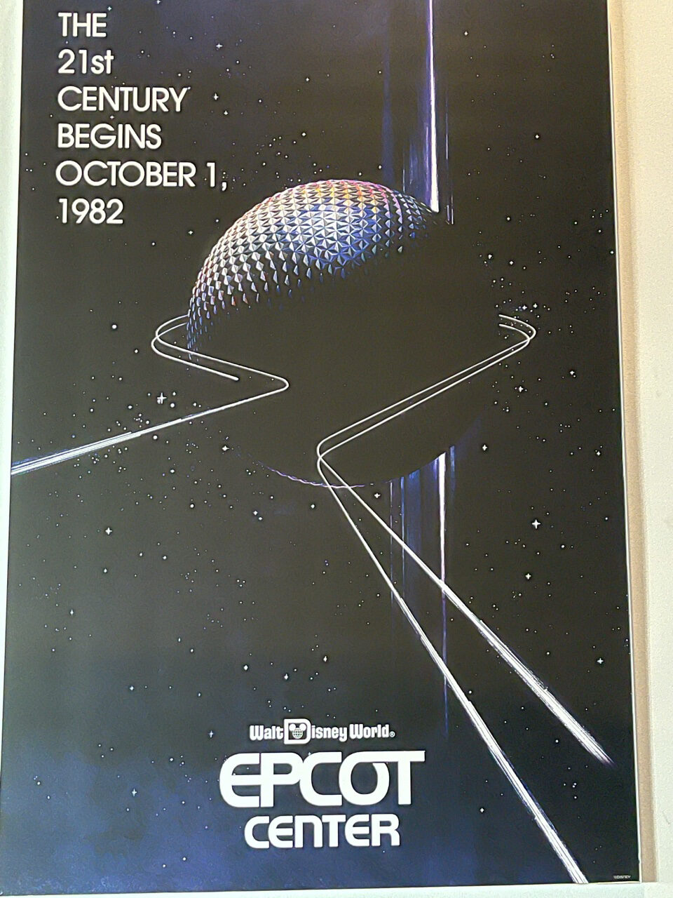 Epcot center grand opening poster