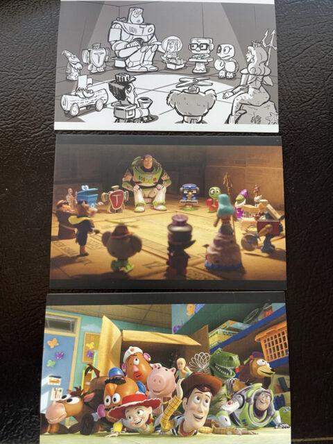 3 Pixar toy story postcards