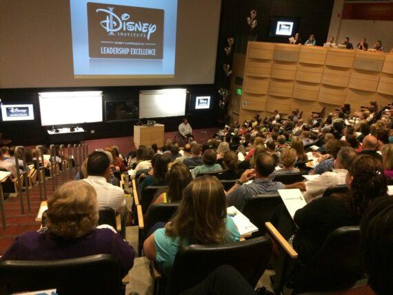 Large auditorium full of people