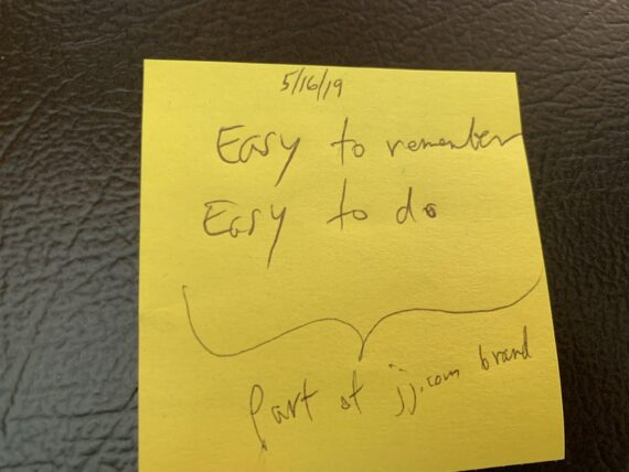 Notes on a post it note