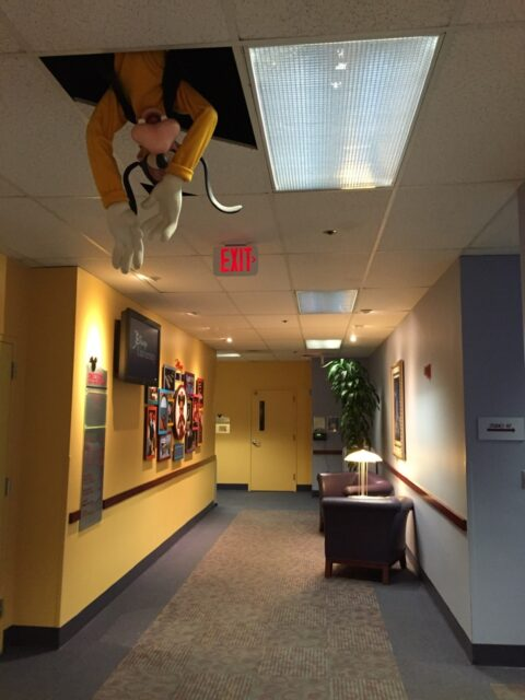 Disney character as a ceiling feature