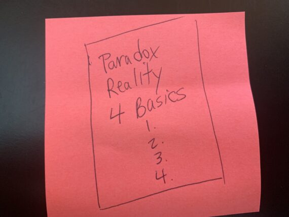 Post-it note message