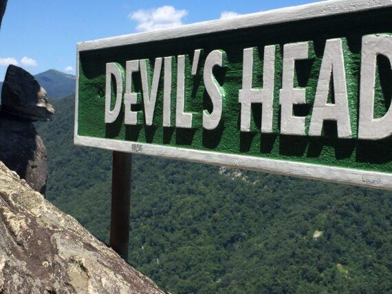 Devils head sign