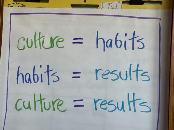 Flipchart with notes about culture