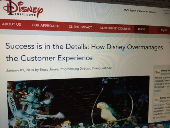 Disney Institute website page
