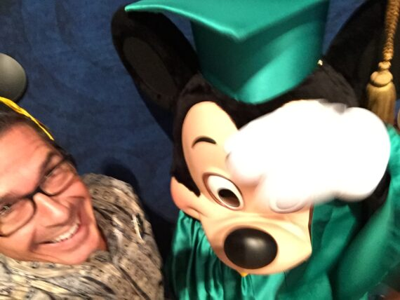 Disney Institute Speaker Jeff Noel and Mickey Mouse