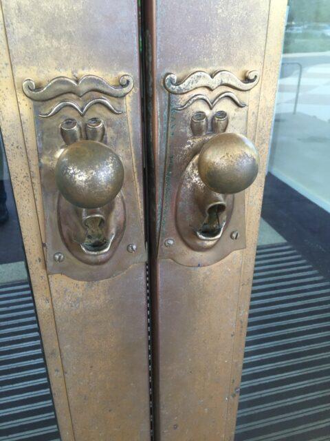 Walt Disney World's Casting Center entrance door knobs.