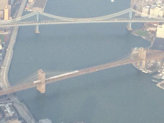 Brooklyn Bridge view from jet