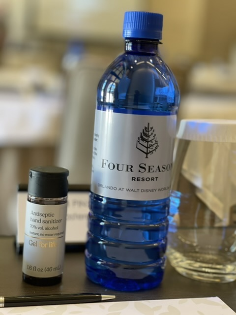 water bottle in meeting room