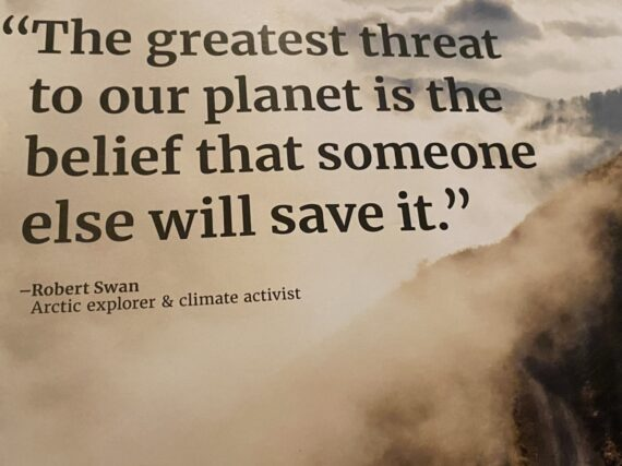 saving the planet quote