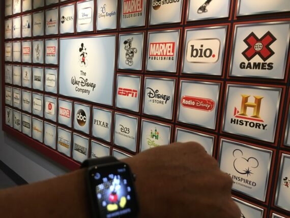 Disney Brands wall display