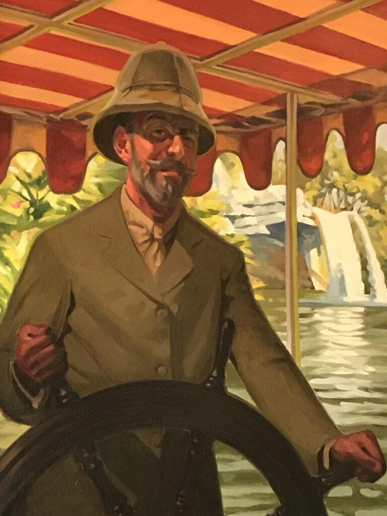 Jungle Cruise Skipper portrait painting