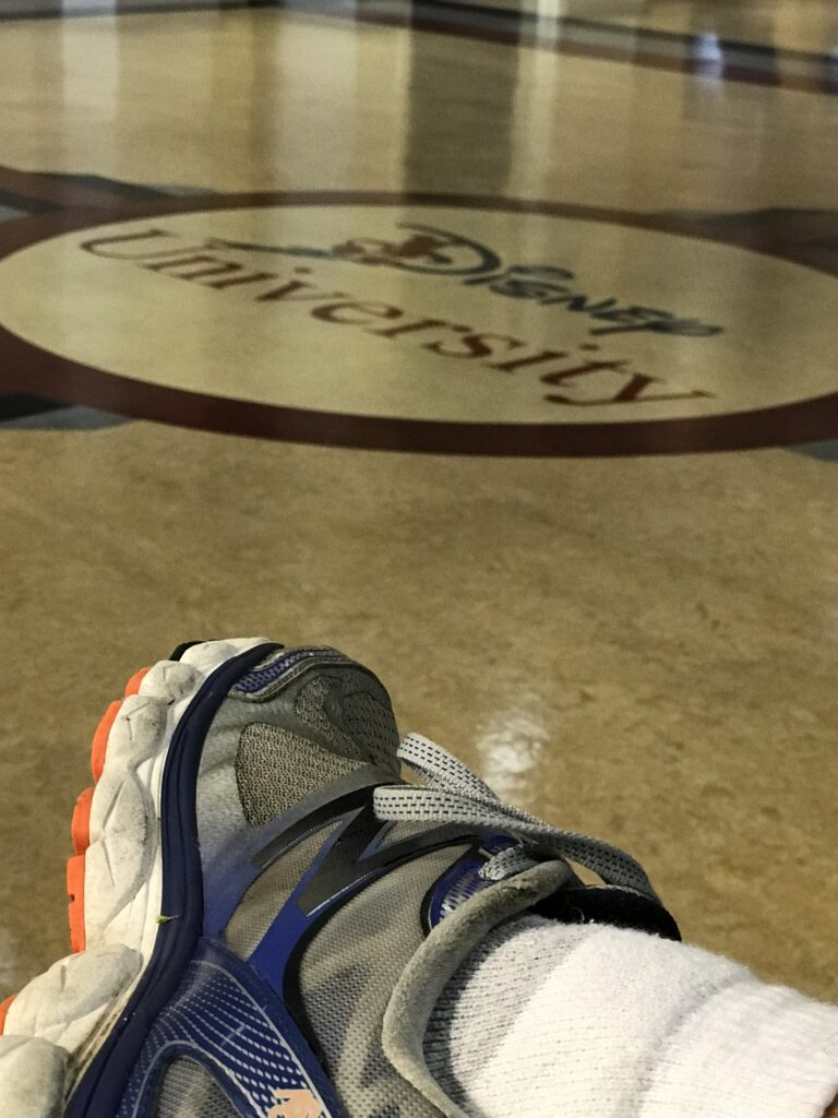 closeup of running shoe