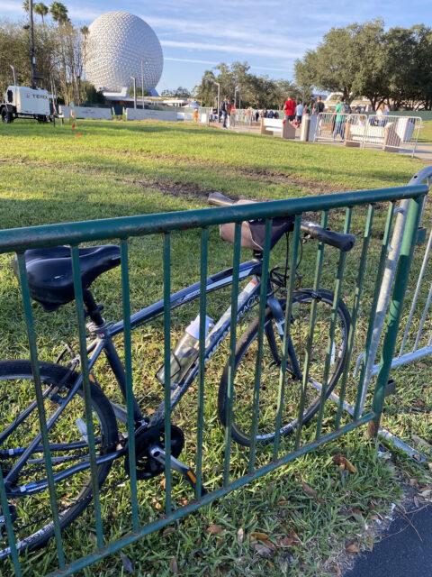 Bicycle parking at Epcot.