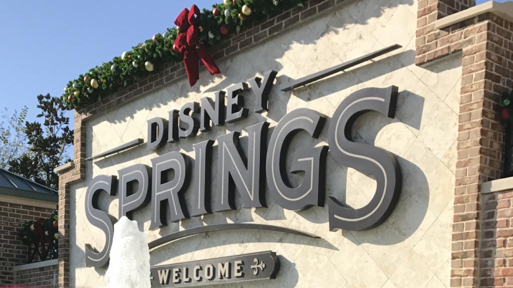 Disney Springs entrance sign