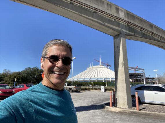 Disney speaker Jeff noel near Space Mountain