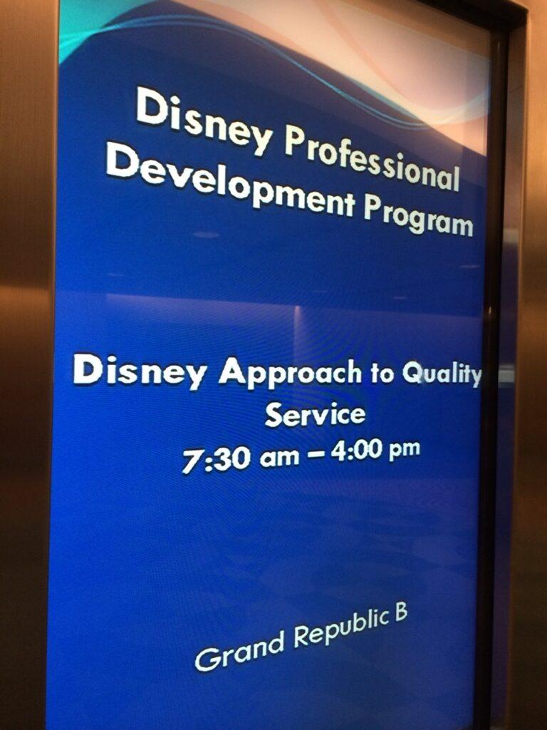 Disney Institute class sign