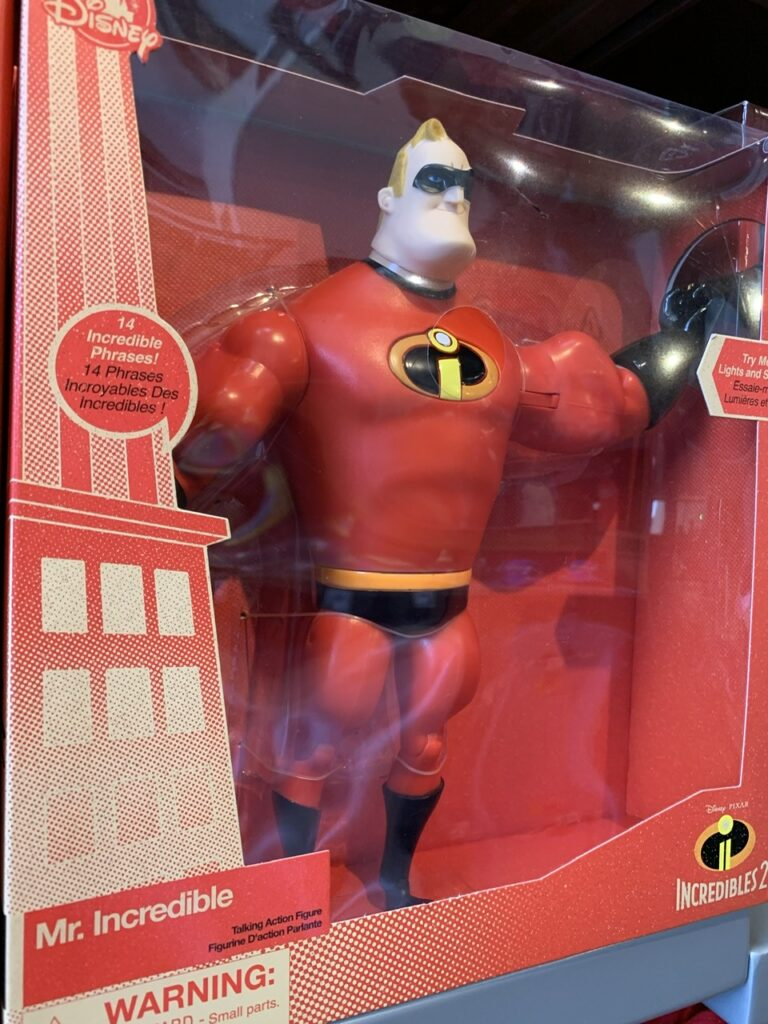 mr. incredible toy in a box